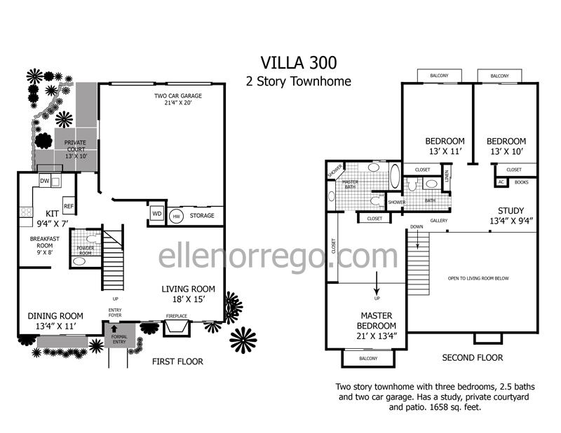 Shadow lake village homes condos and apartments shadow for 2 story villa floor plans
